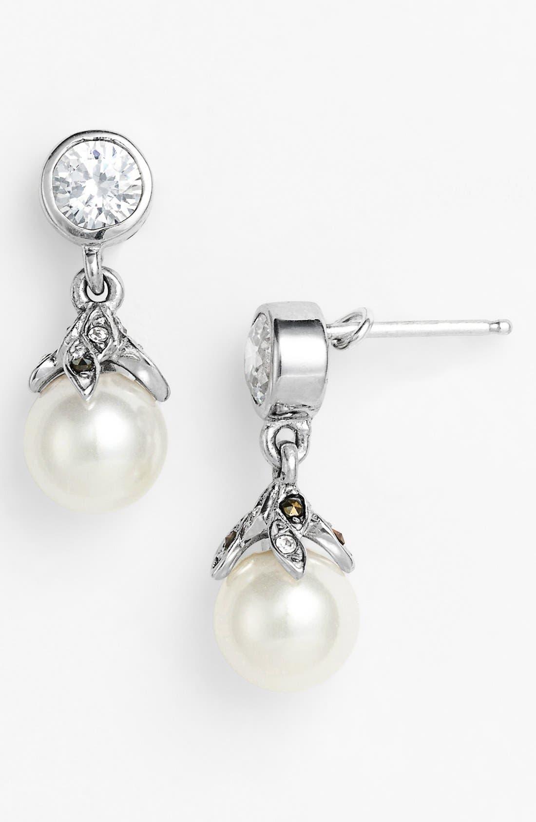 Alternate Image 1 Selected - Judith Jack 'Pearl Romance' Faux Pearl Drop Earrings
