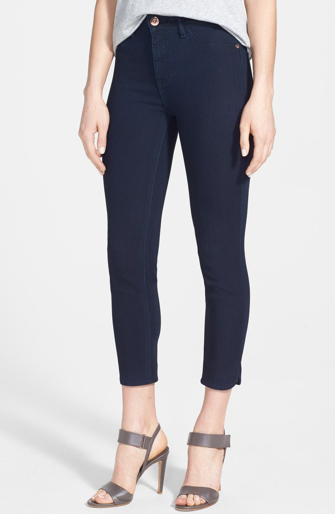 Main Image - DL1961 'Bardot High Rise' Crop Jeans (Flat Iron)