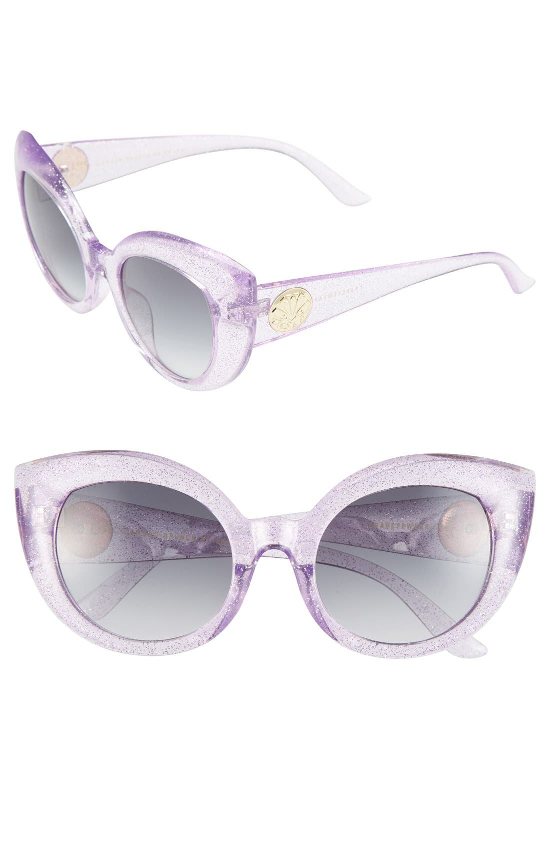 Main Image - CRAP Eyewear 'The Diamond Brunch' 55mm Sunglasses