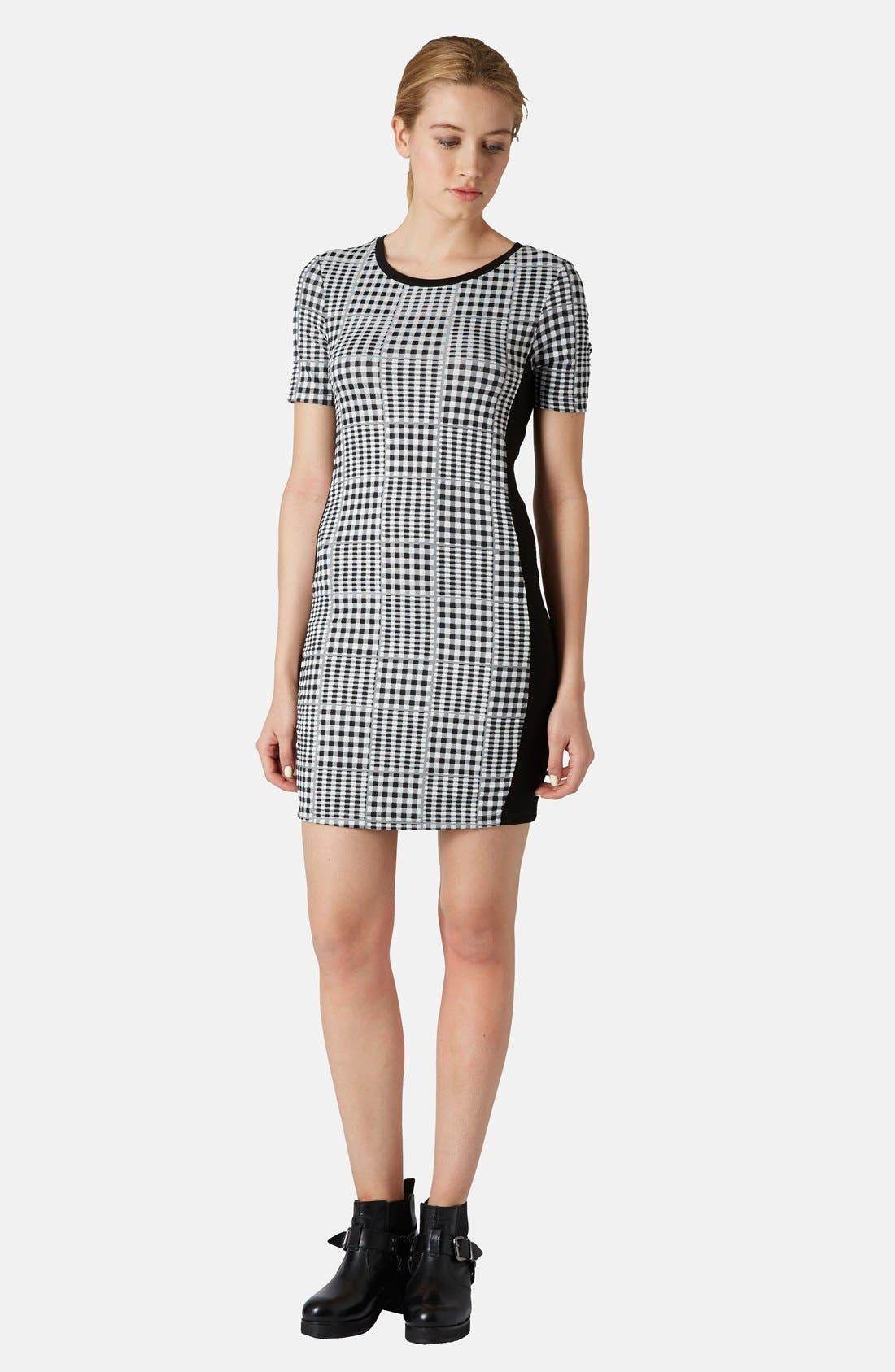 Alternate Image 5  - Topshop Gingham Body-Con Dress