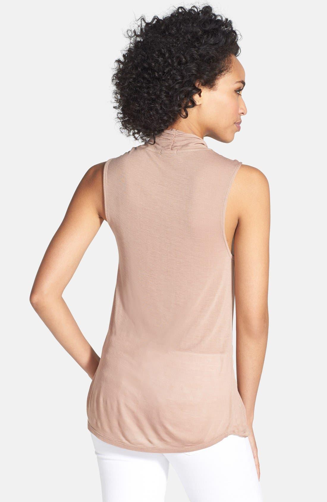 Alternate Image 2  - LAmade 'Juliet' Tencel® Wrap Front Top
