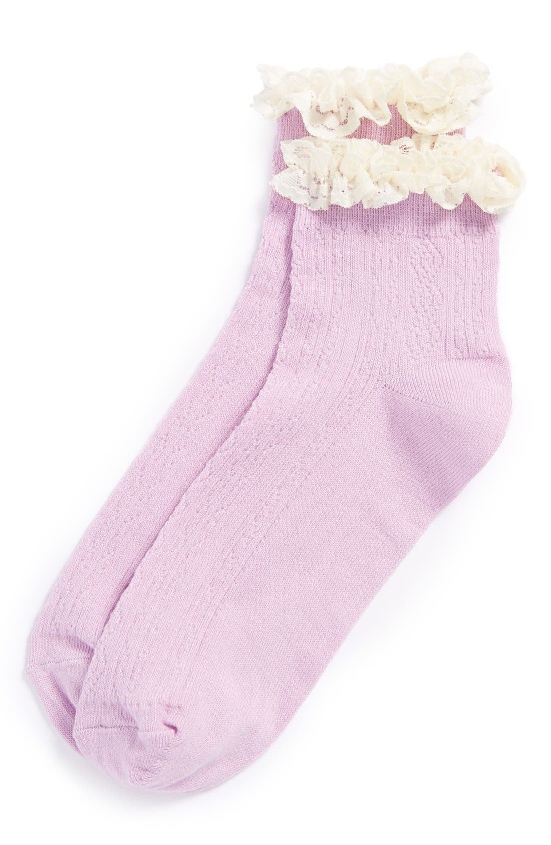 Alternate Image 1 Selected - Topshop Crocheted Lace Socks