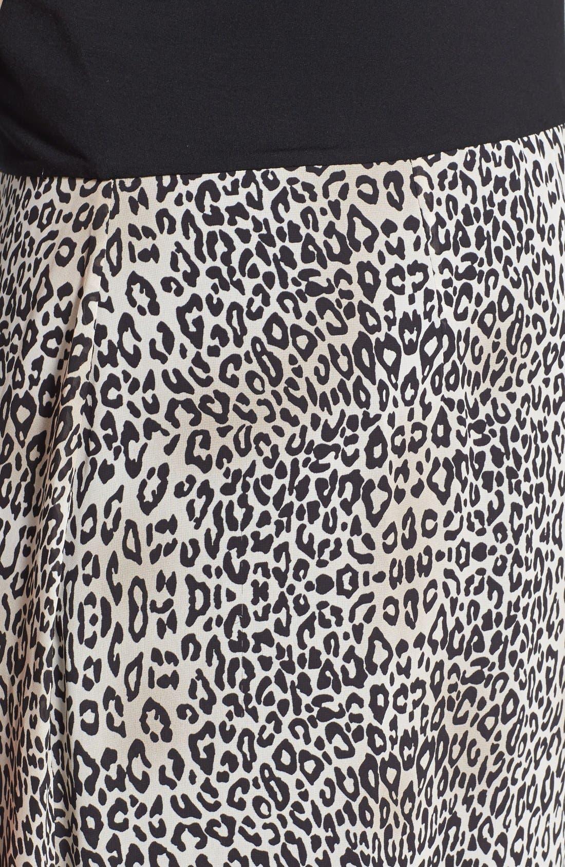 Alternate Image 3  - Vince Camuto 'Desert Leopard' Chiffon Overlay Maxi Dress (Plus Size)