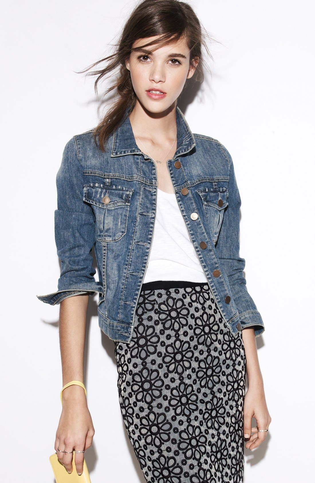 Main Image - KUT from the Kloth Denim Jacket (Petite)