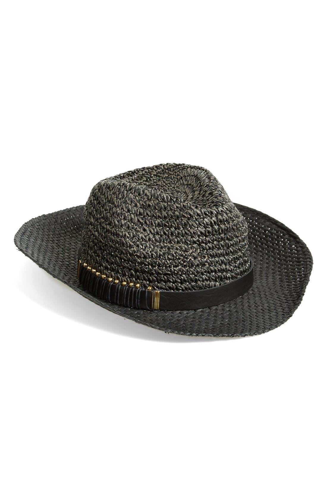 Alternate Image 1 Selected - Jessica Simpson Metal Accented Panama Hat