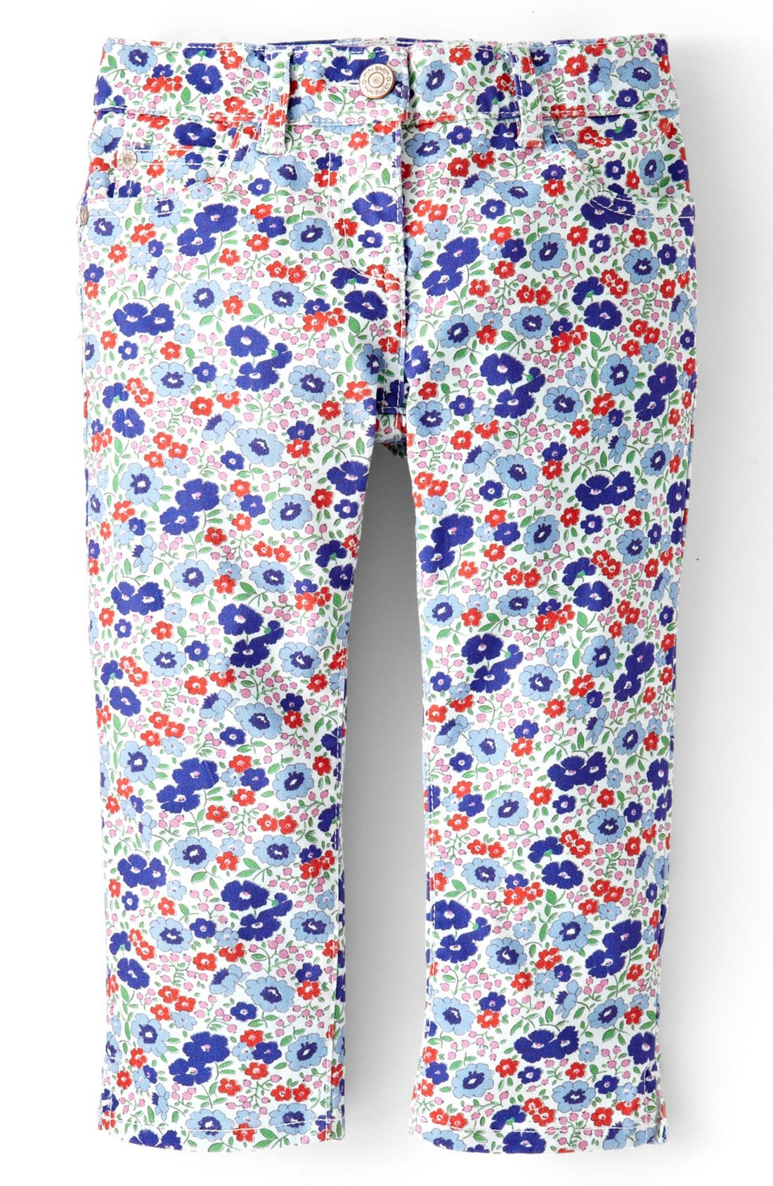 Main Image - Mini Boden Print Stretch Cotton Capri Pants (Toddler Girls)