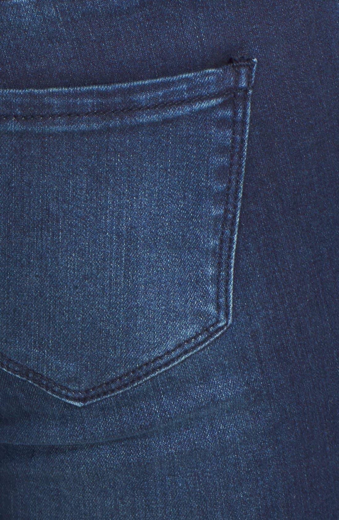 Alternate Image 3  - THIS CITY Skinny Jeans (Dark) (Juniors)