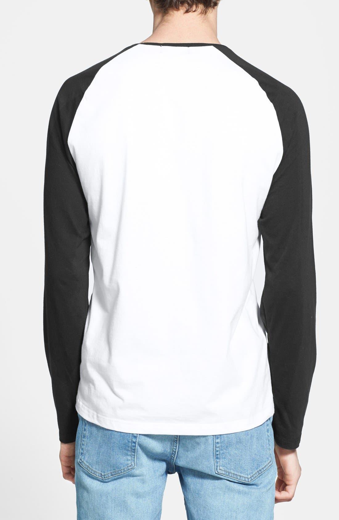 Alternate Image 2  - Topman Long Sleeve Baseball T-Shirt