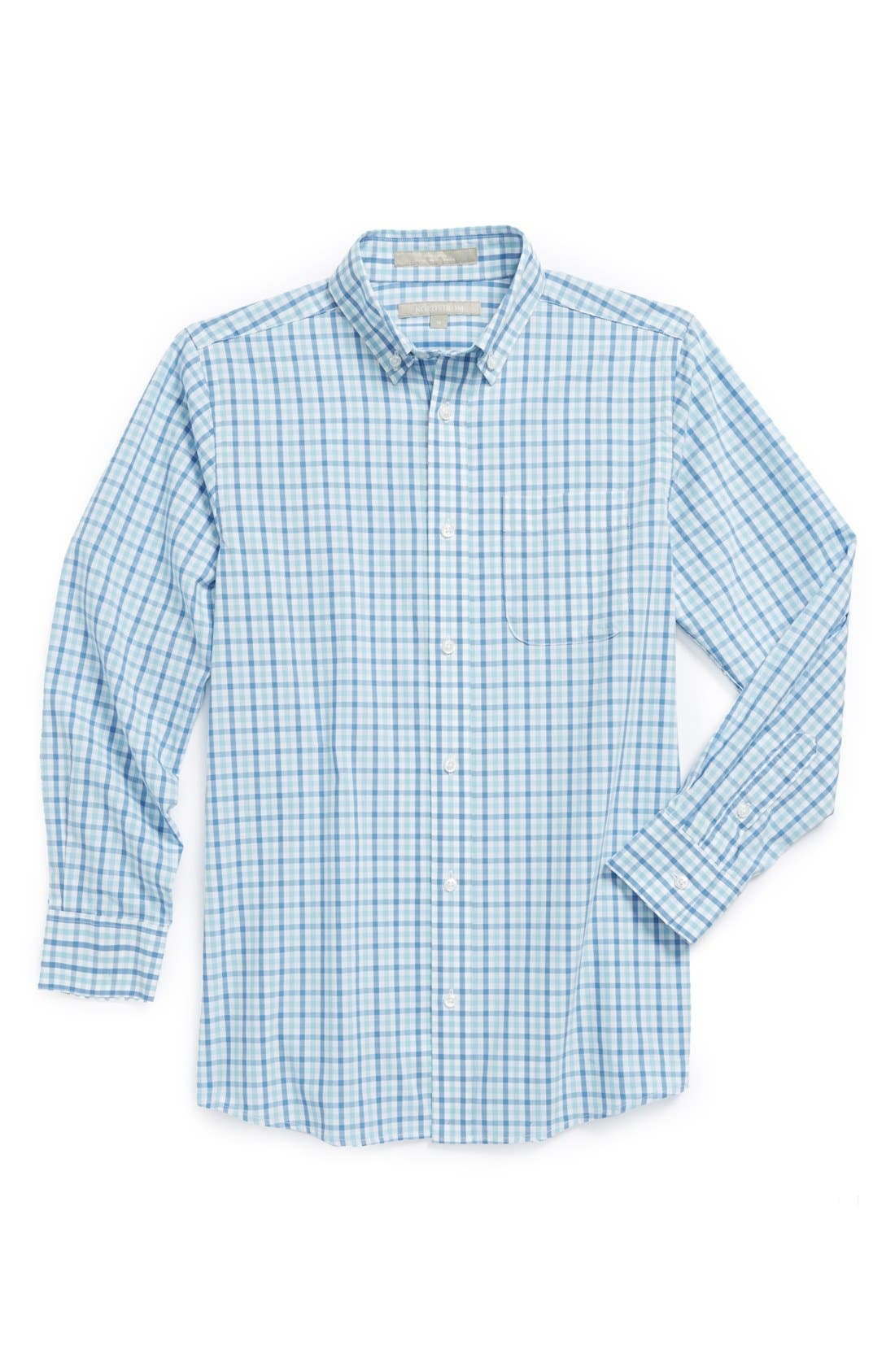 Main Image - Nordstrom 'Michael' Plaid Dress Shirt (Big Boys)