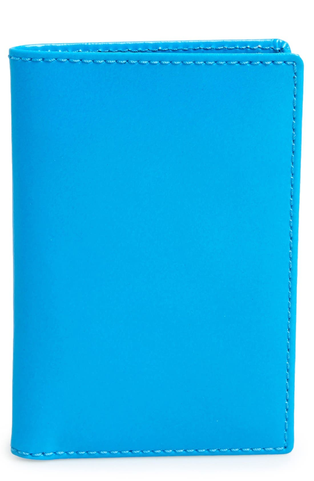 Alternate Image 1 Selected - Comme des Garçons 'Super Fluo' Leather Card Case