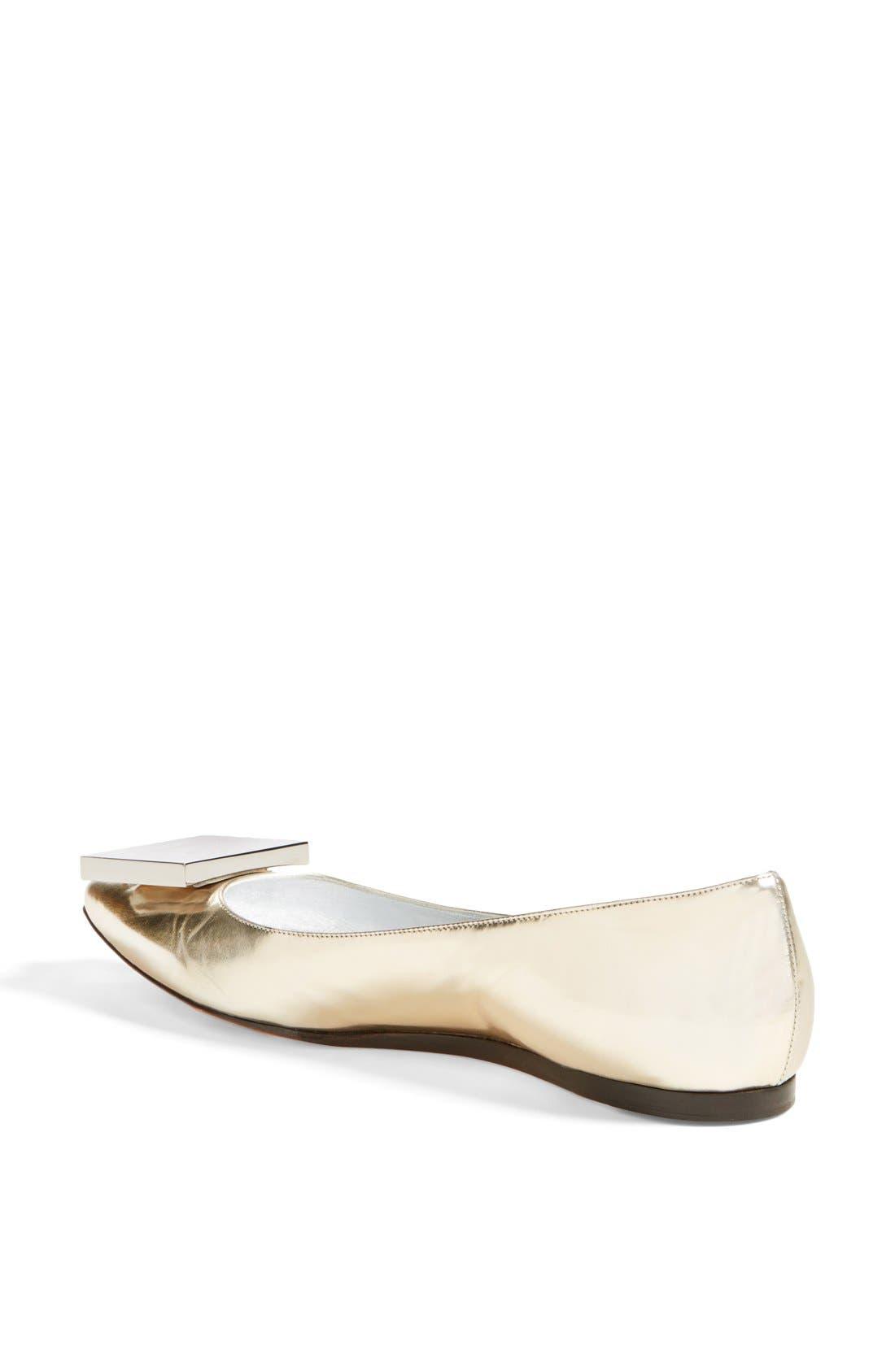 Alternate Image 2  - Acne Studios 'Aida' Pointy Toe Metallic Leather Flat