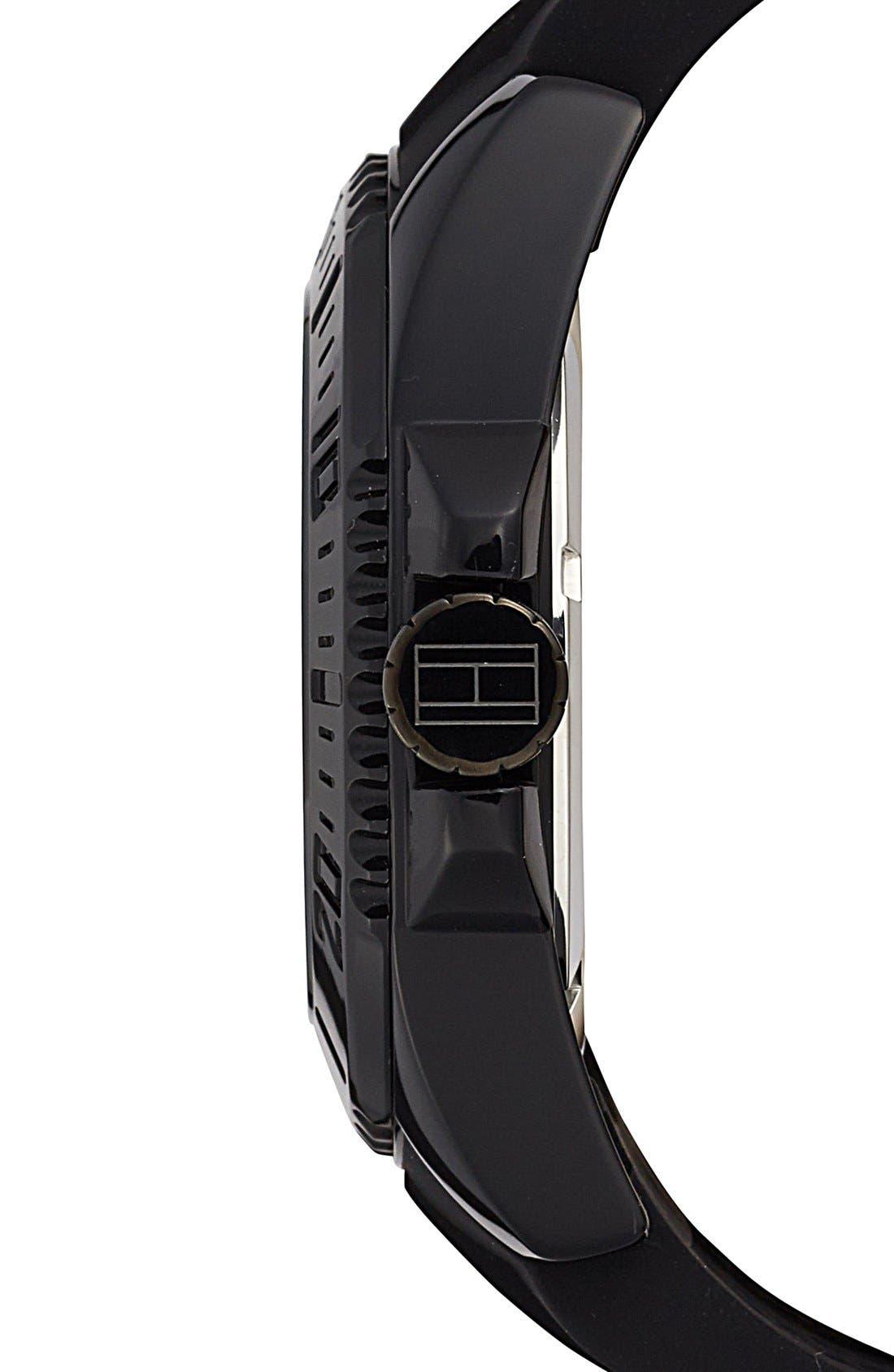 Alternate Image 3  - Tommy Hilfiger Round Silicone Strap Watch, 48mm