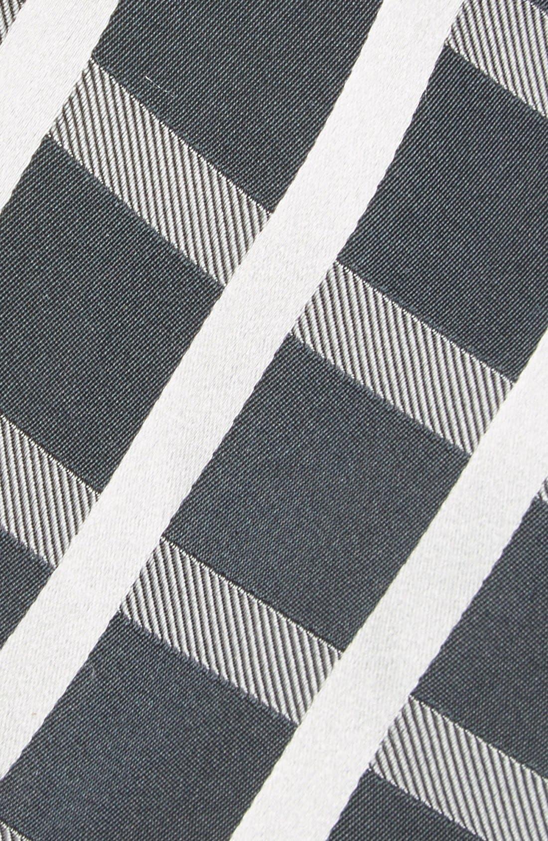Alternate Image 2  - Bugatchi Grid Silk Tie