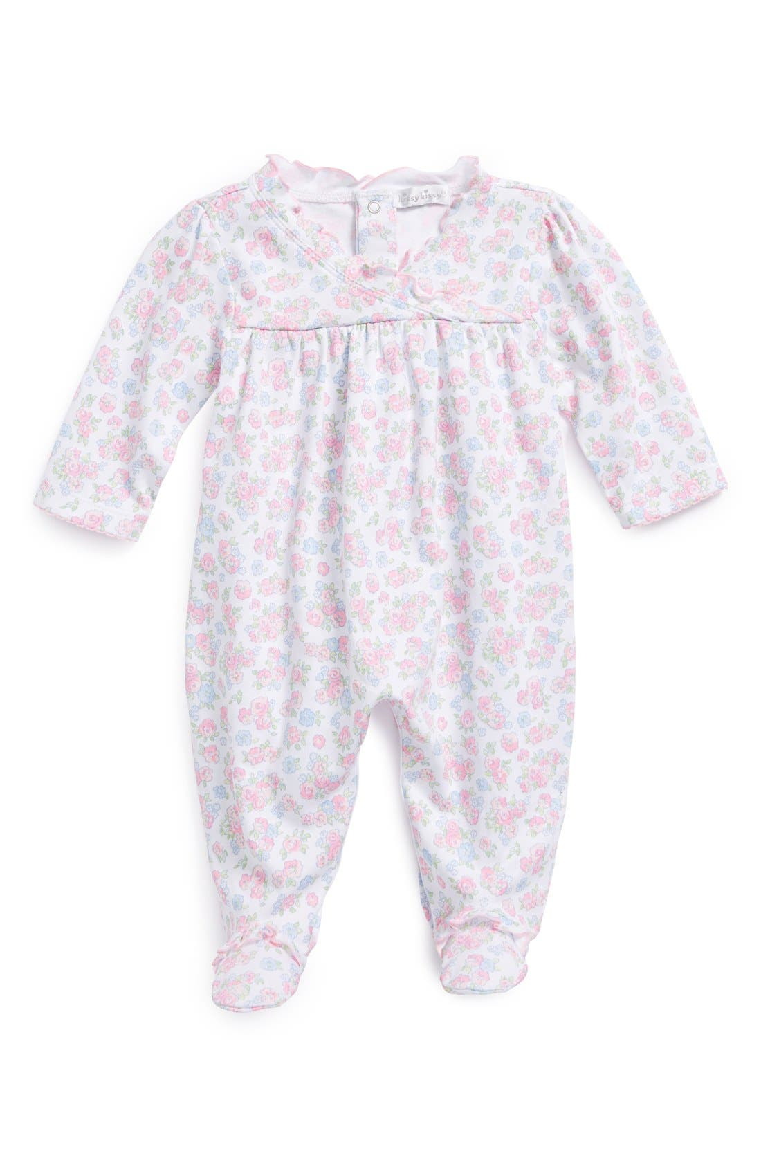 Alternate Image 1 Selected - Kissy Kissy 'Summer Splendor' Pima Cotton One-Piece (Baby Girls)