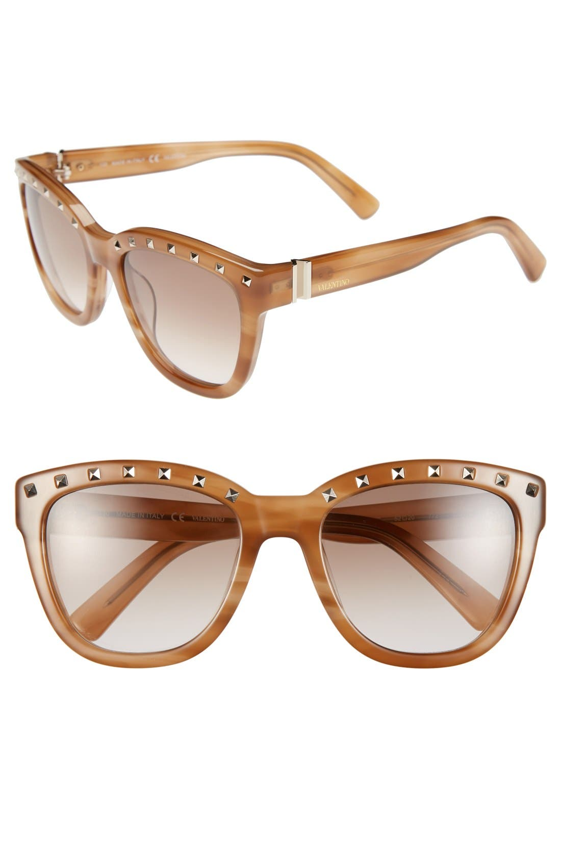 Main Image - Valentino 'Rockstud' 52mm Sunglasses