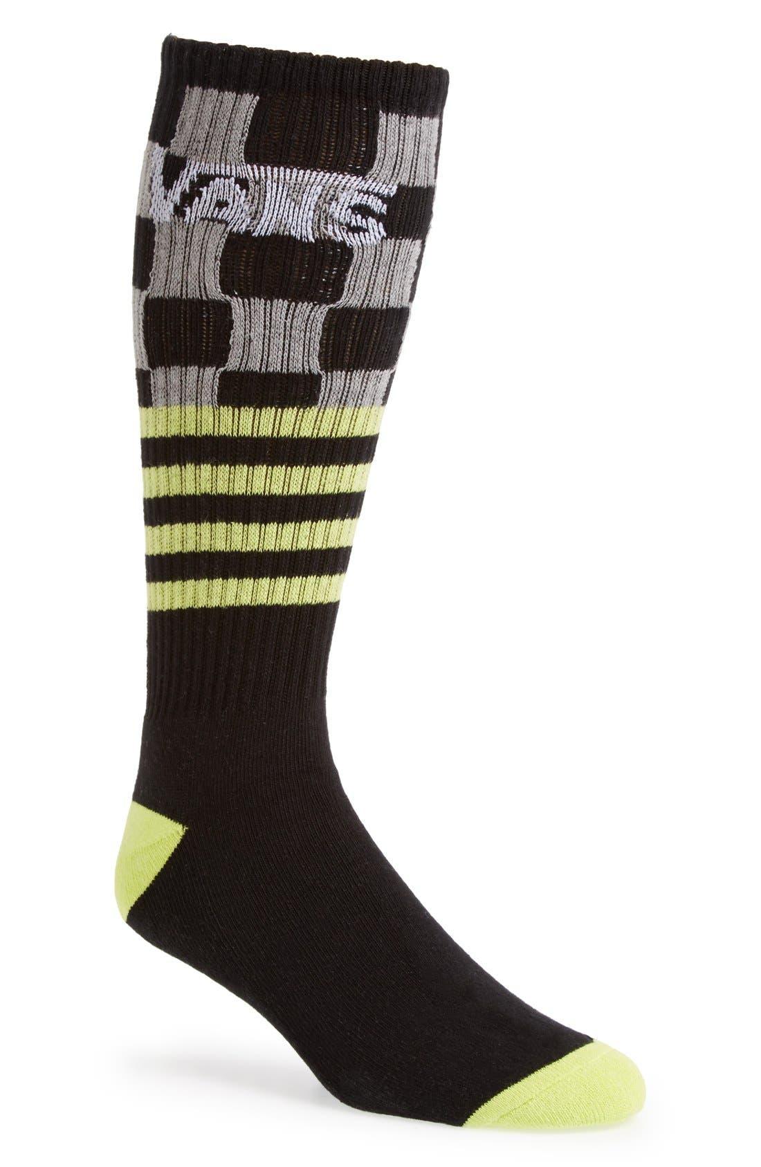 Alternate Image 1 Selected - Vans 'Check Stripe' Crew Socks