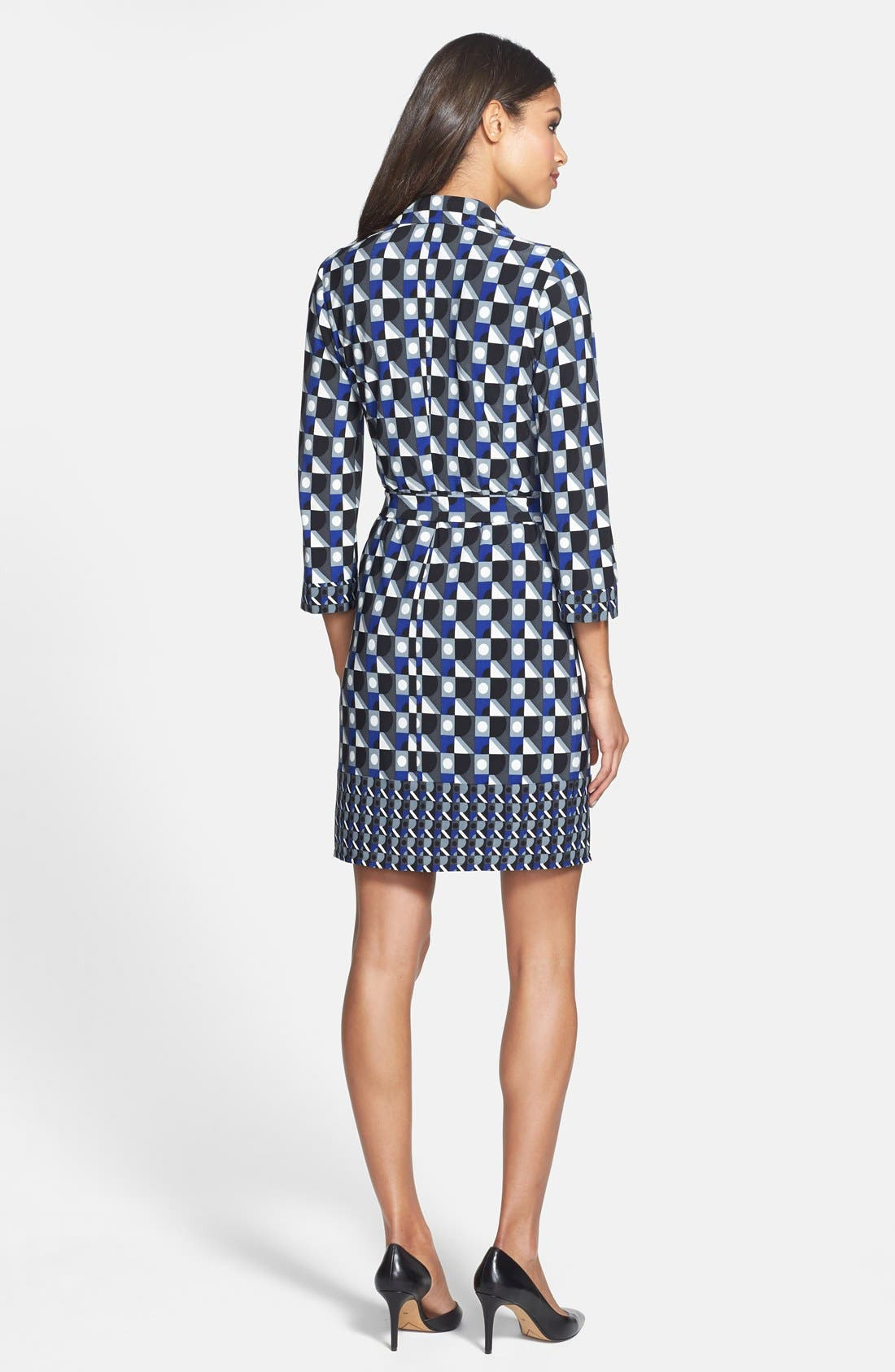 Alternate Image 2  - Laundry by Shelli Segal Matte Jersey Shirtdress