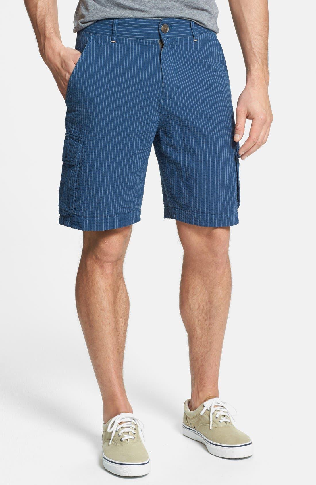 Alternate Image 1 Selected - W.R.K Seersucker Stripe Cargo Shorts