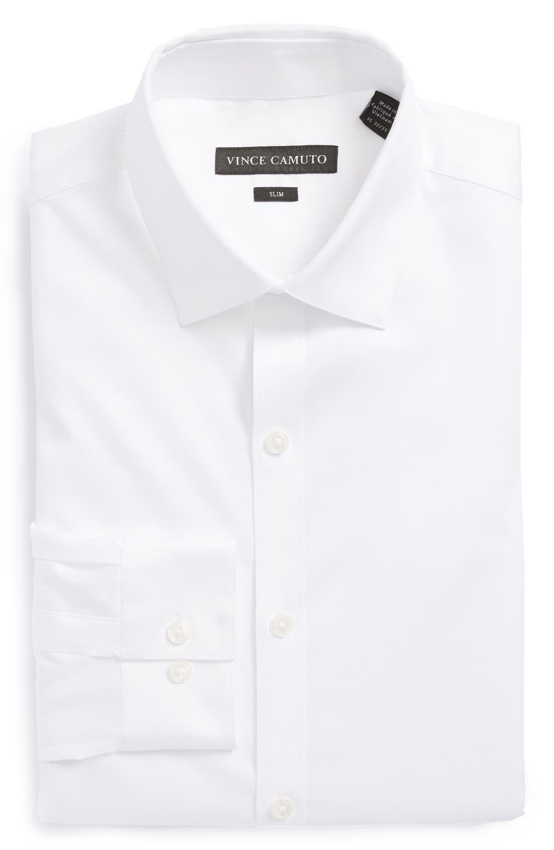Alternate Image 1 Selected - Vince Camuto Slim Fit Solid Dress Shirt