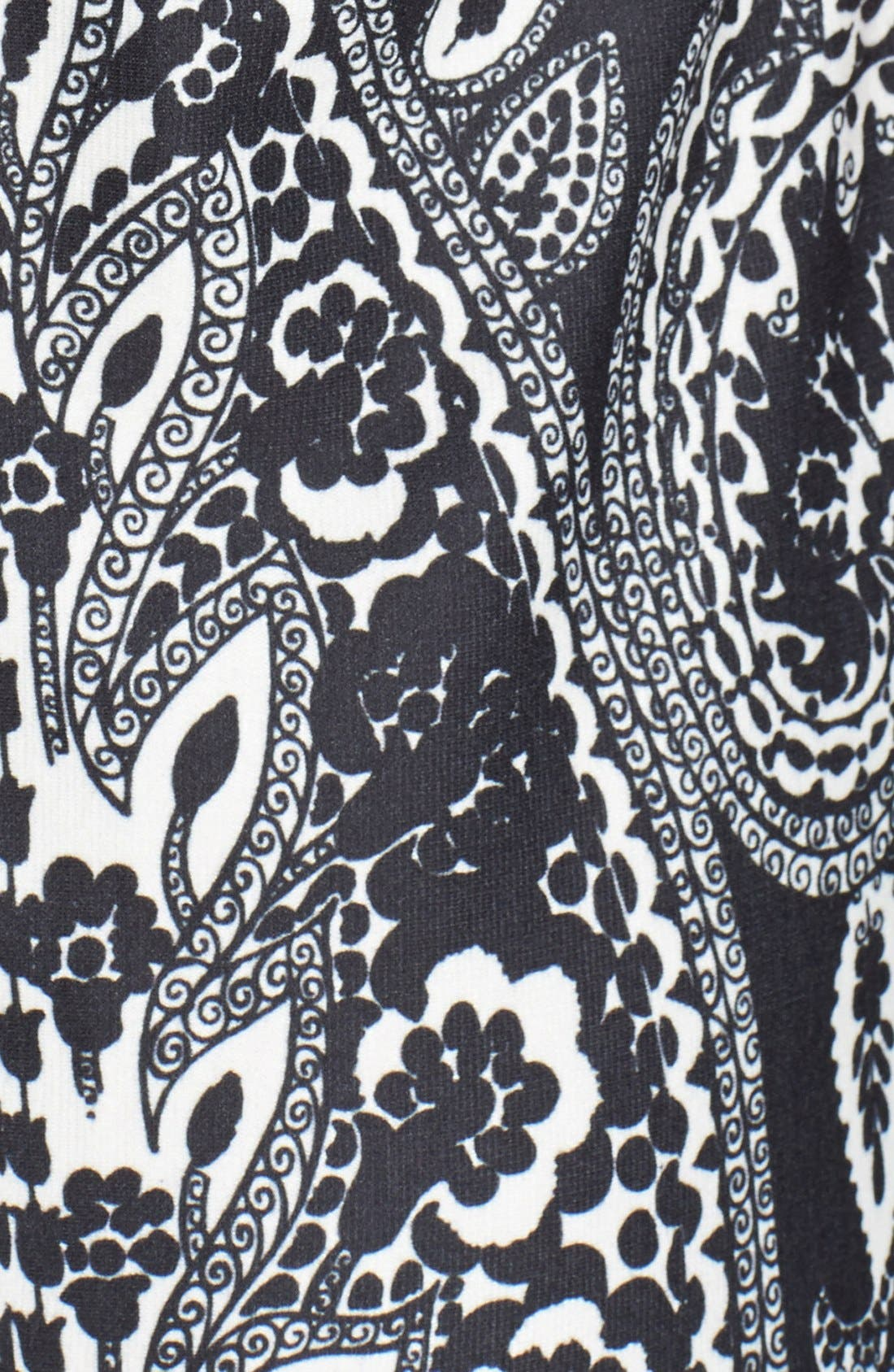 Alternate Image 4  - Eliza J Print Ponte Knit Shift Dress (Online Only)