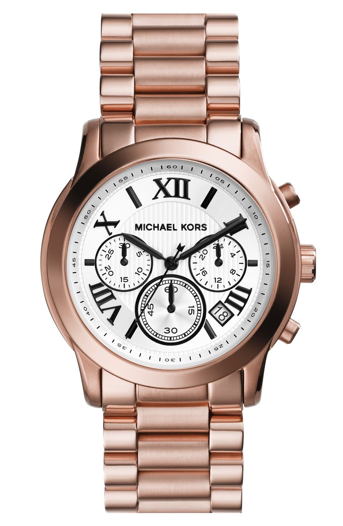 Main Image - Michael Kors 'Cooper' Chronograph Bracelet Watch, 39mm