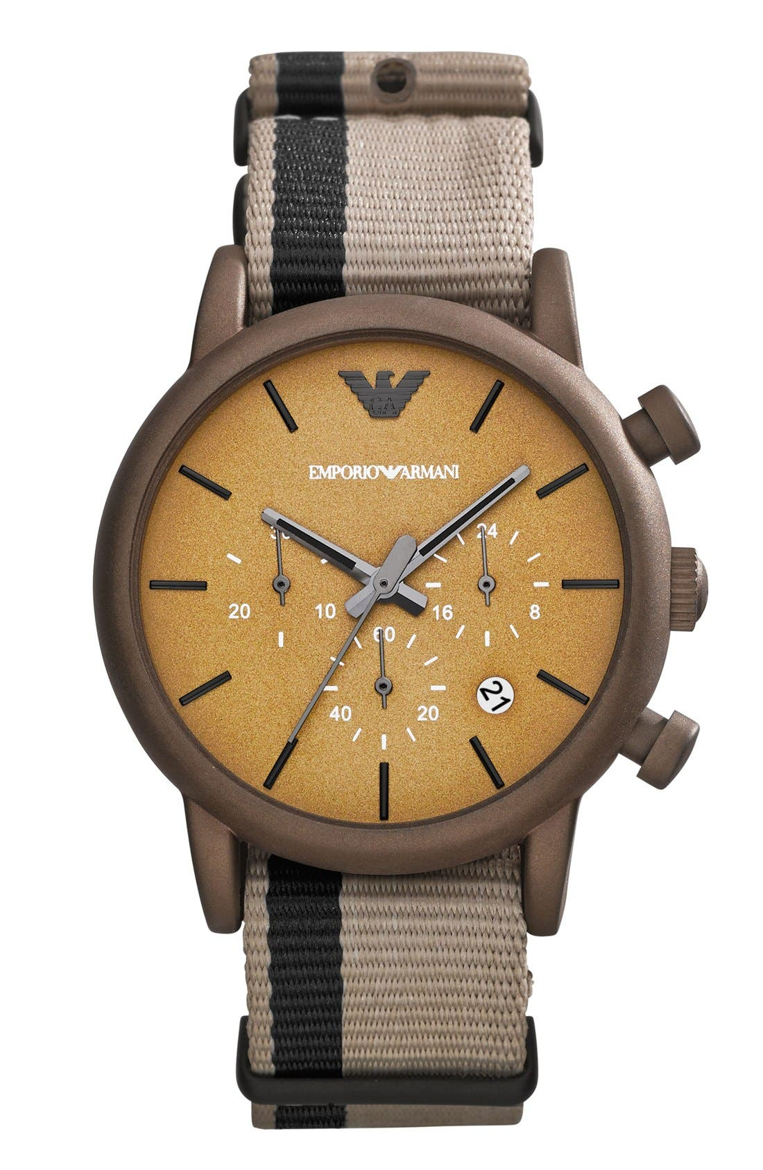 Alternate Image 3  - Emporio Armani Chronograph Watch & Interchangeable Strap Set, 41mm