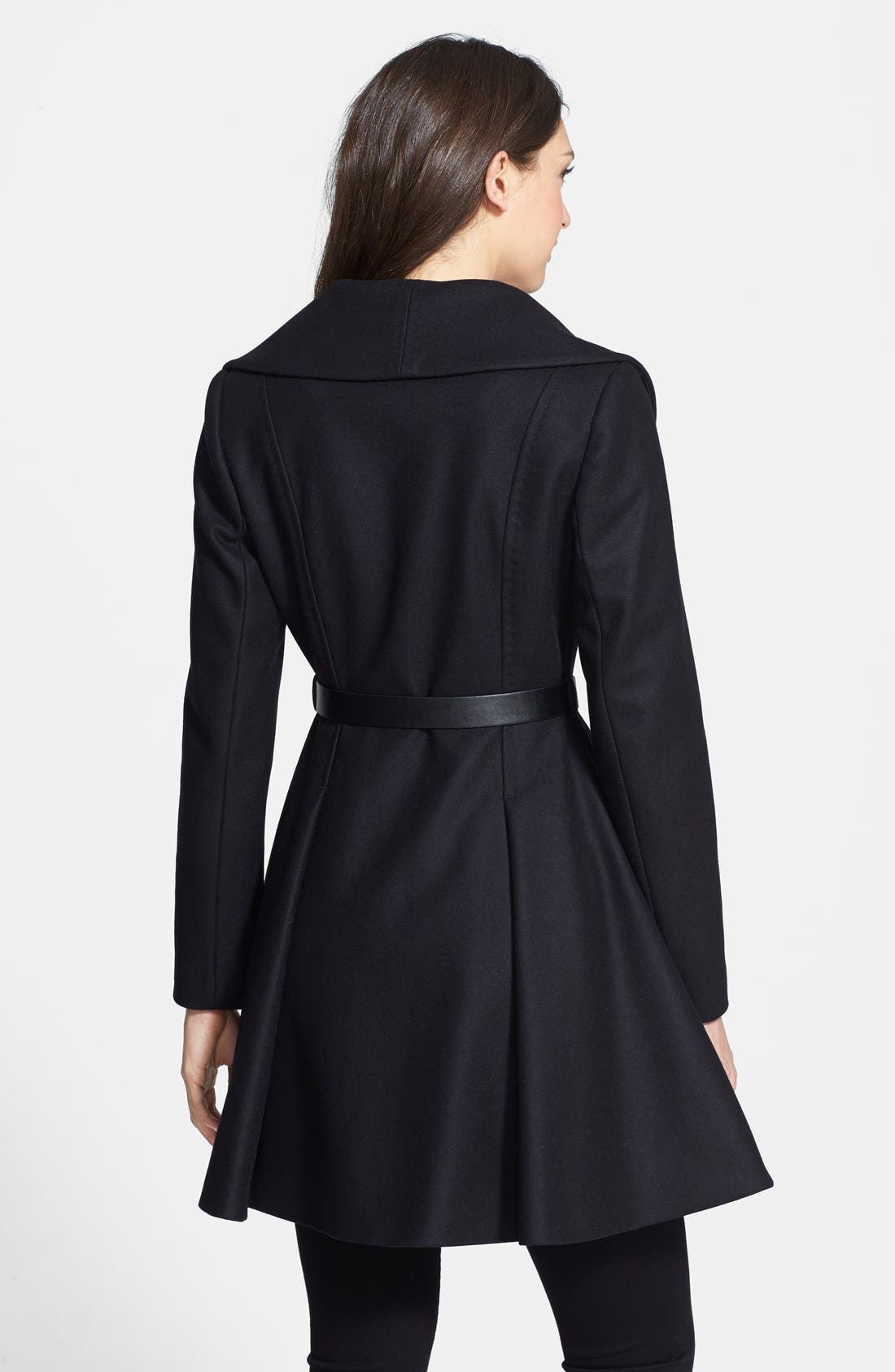 Alternate Image 2  - Ted Baker London Belted Flare Skirt Wool & Cashmere Blend Coat