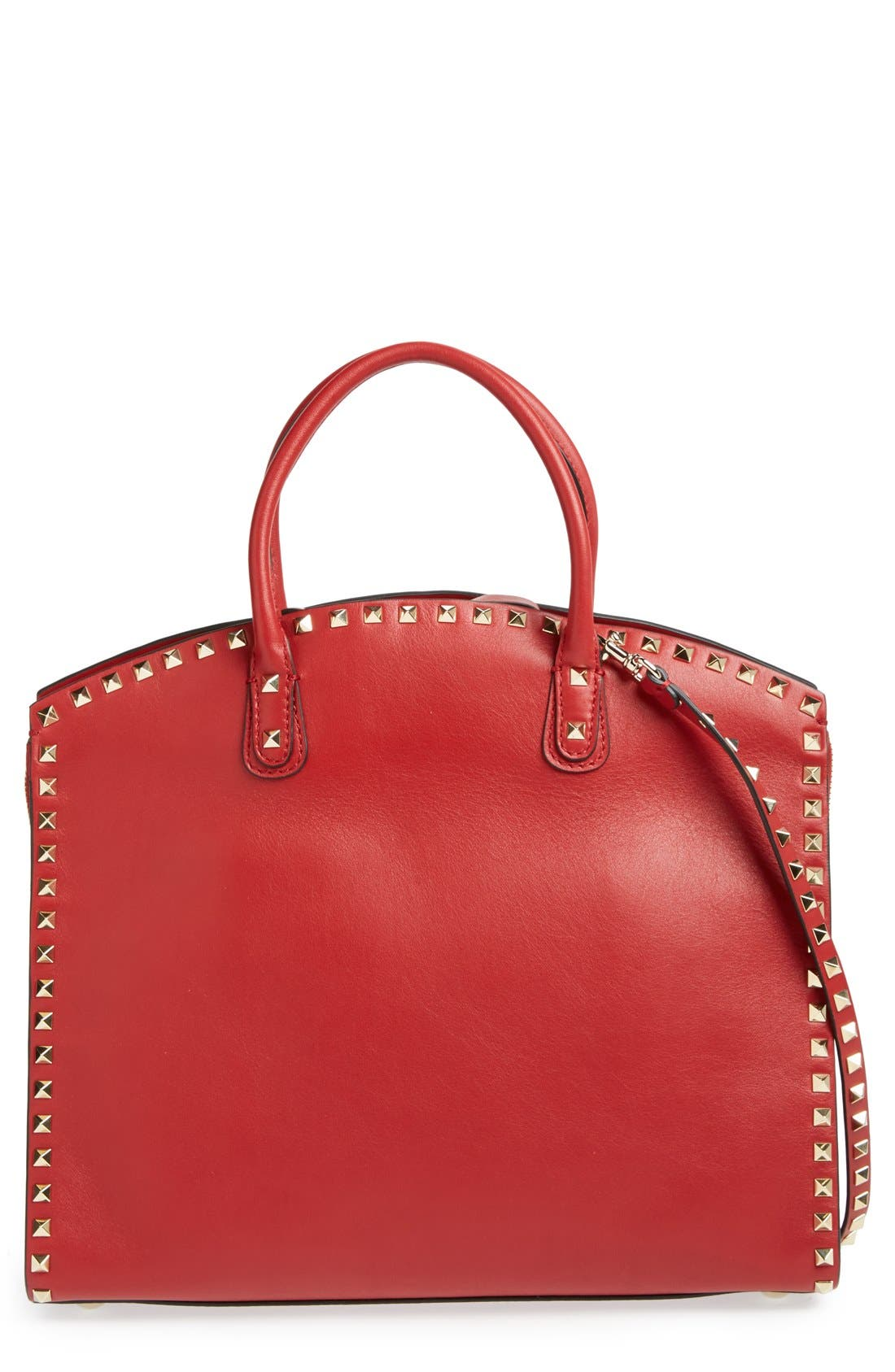 Main Image - Valentino 'Rockstud' Leather Dome Satchel