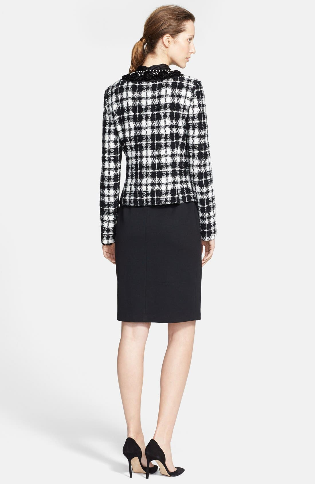 Alternate Image 2  - St. John Collection Plaid Knit Tailored Jacket