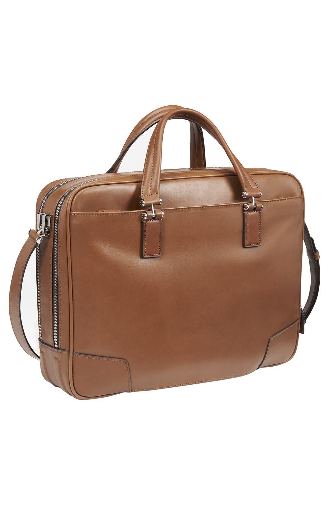 Alternate Image 2  - Tumi 'Astor Ansonia' Zip Top Vachetta Leather Laptop Briefcase (17 Inch)