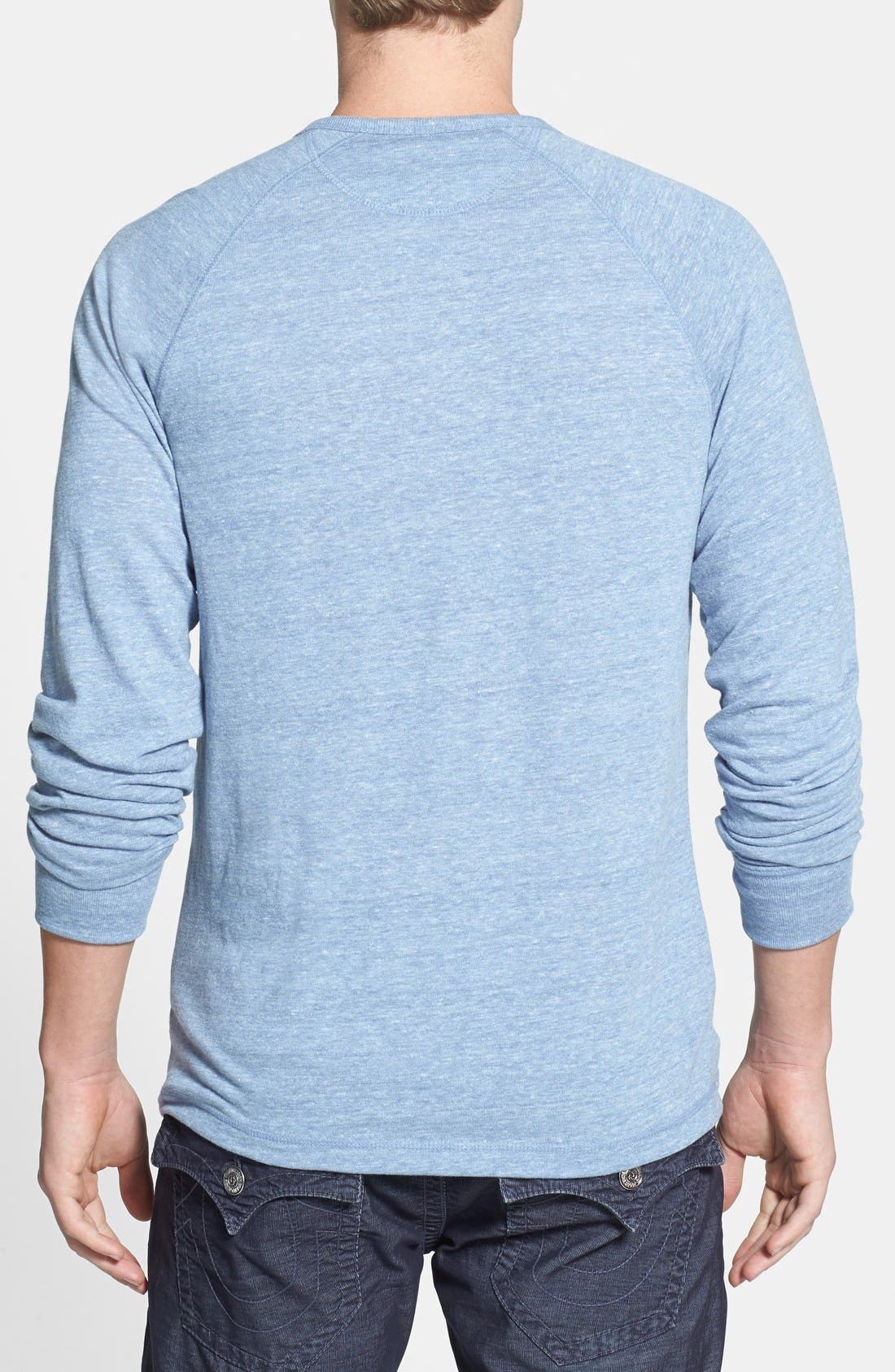 Alternate Image 2  - Lucky Brand Garment Washed Henley (Online Only)