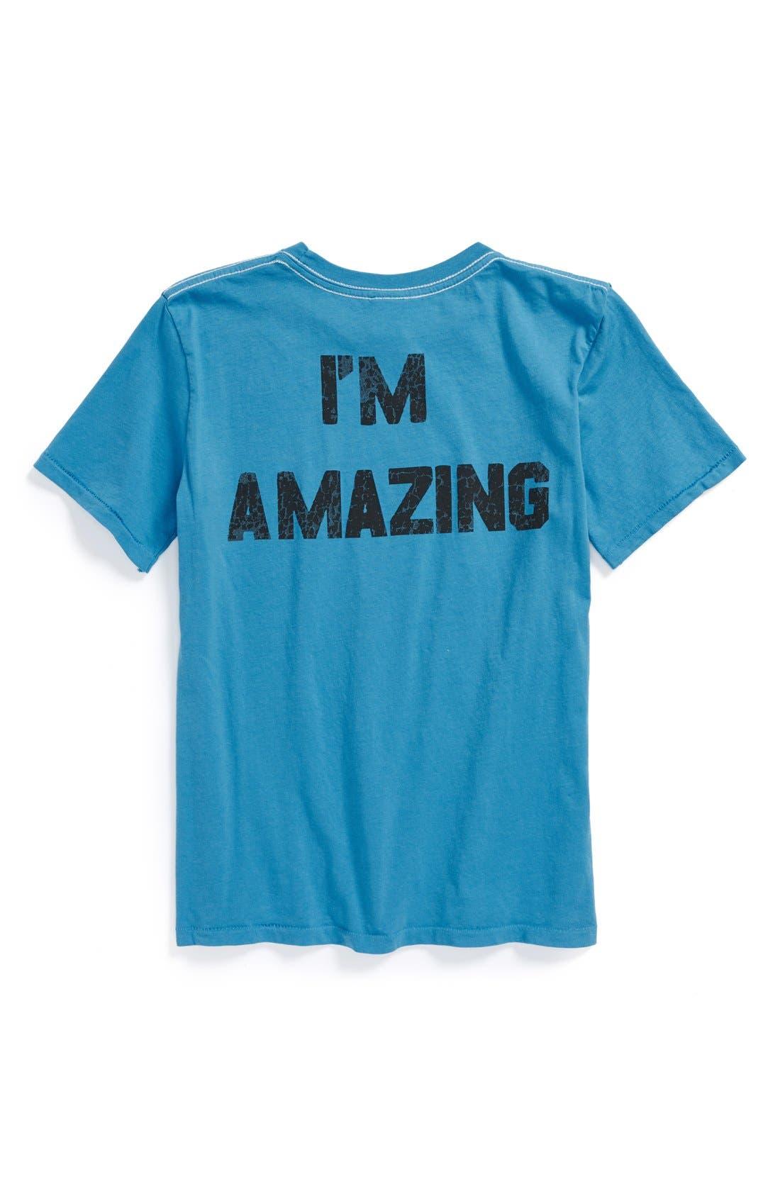 Alternate Image 2  - Junk Food 'I'm Amazing' T-Shirt (Little Boys)