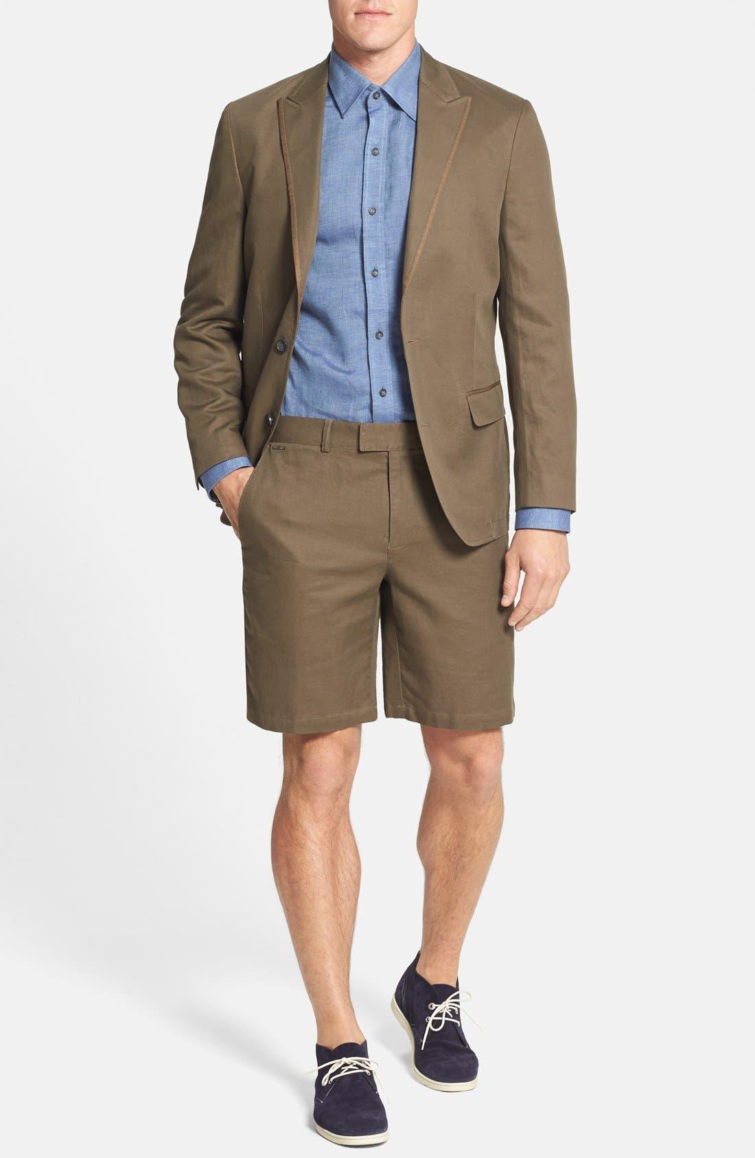 Alternate Image 4  - Vince Camuto Slim Fit Cotton & Linen Blazer