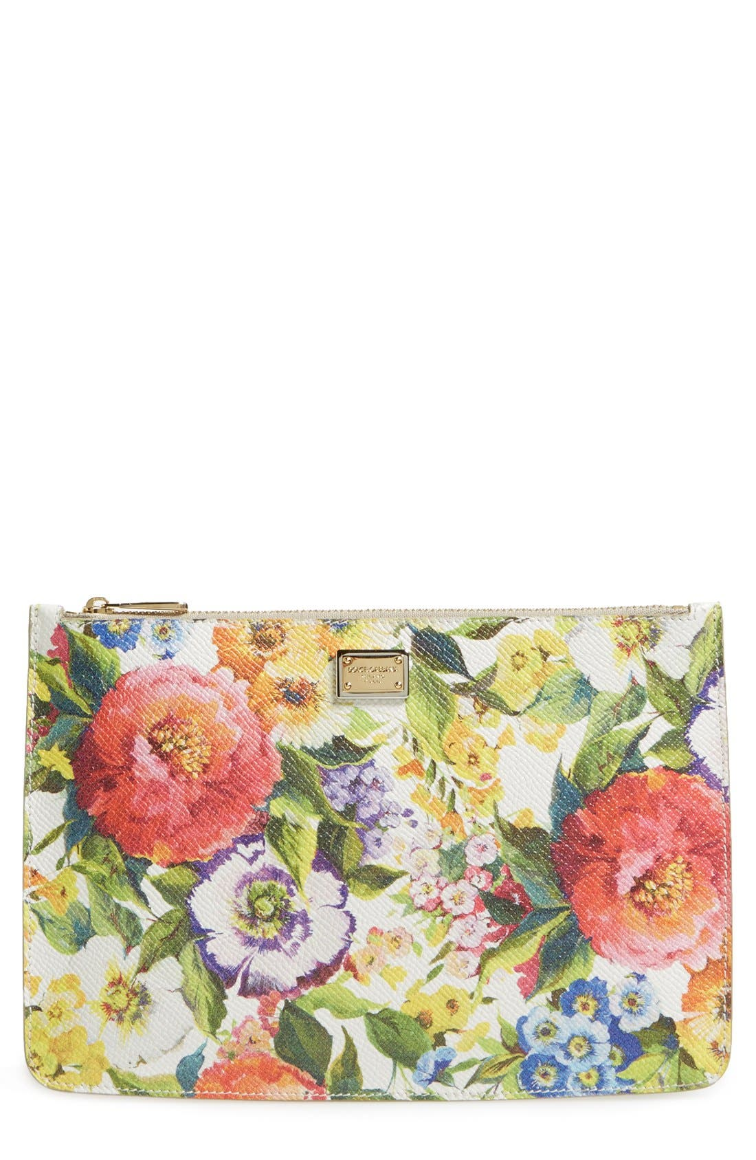 Alternate Image 1 Selected - Dolce&Gabbana Floral Print Pouch
