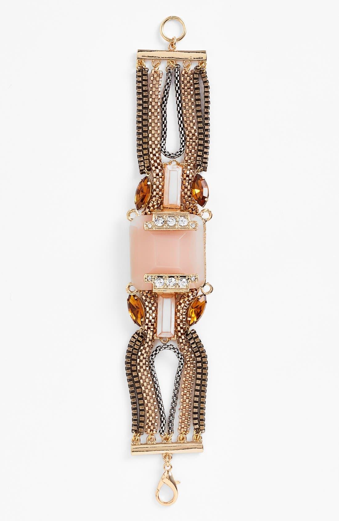 Alternate Image 2  - Berry Mixed Chain & Stone Bracelet