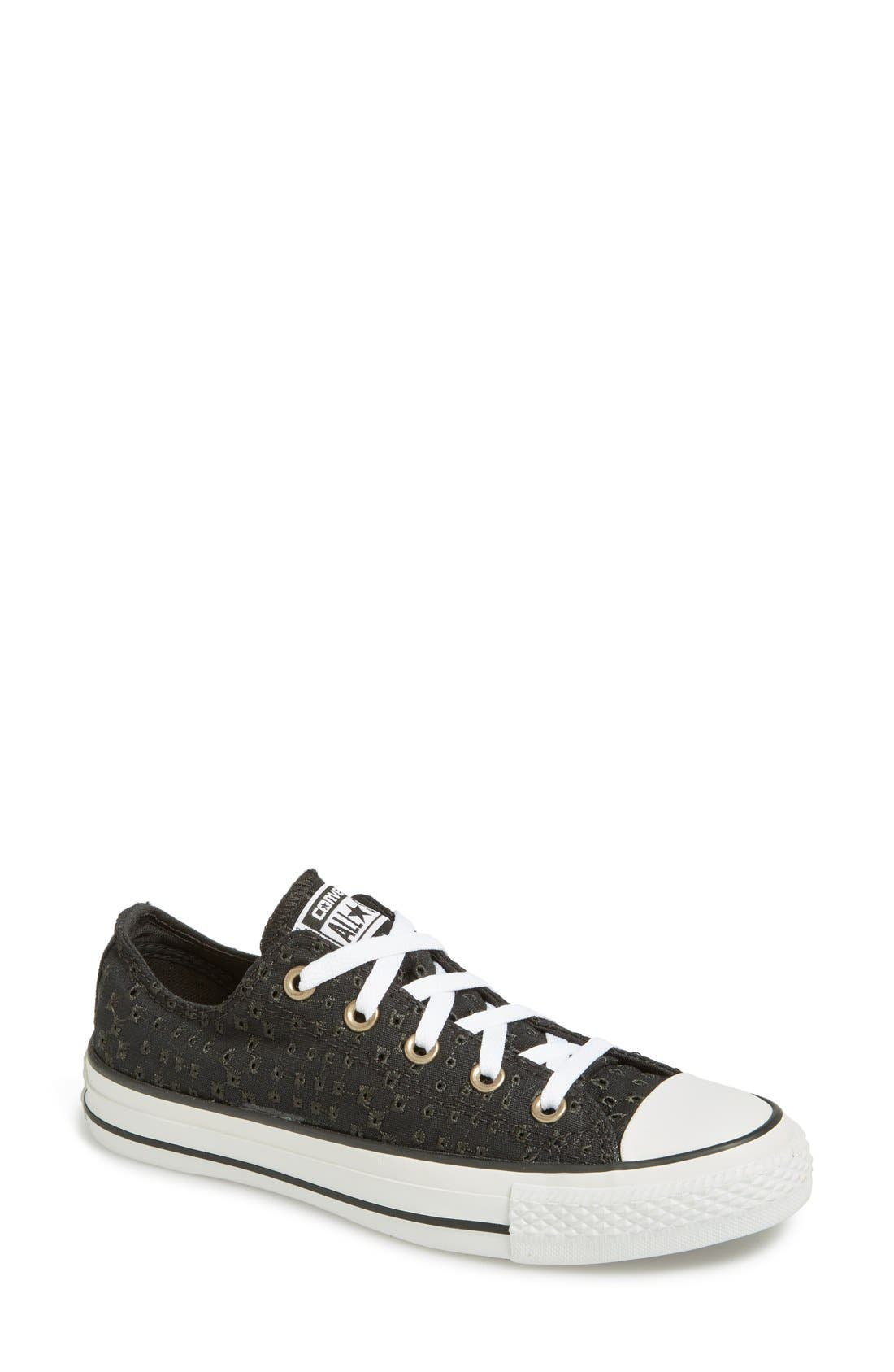 Alternate Image 1 Selected - Converse Chuck Taylor® All Star® 'Low' Eyelet Perforated Sneaker (Women)