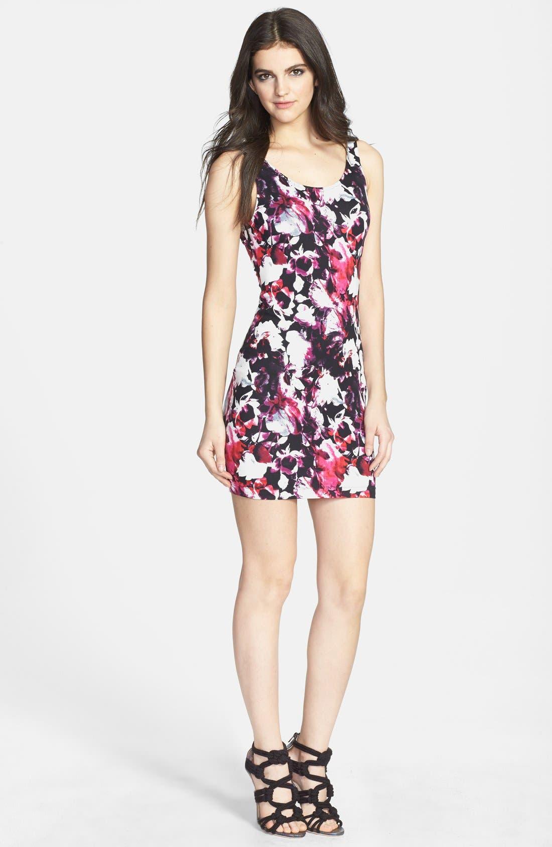 Alternate Image 1 Selected - Wayf Print Body-Con Dress