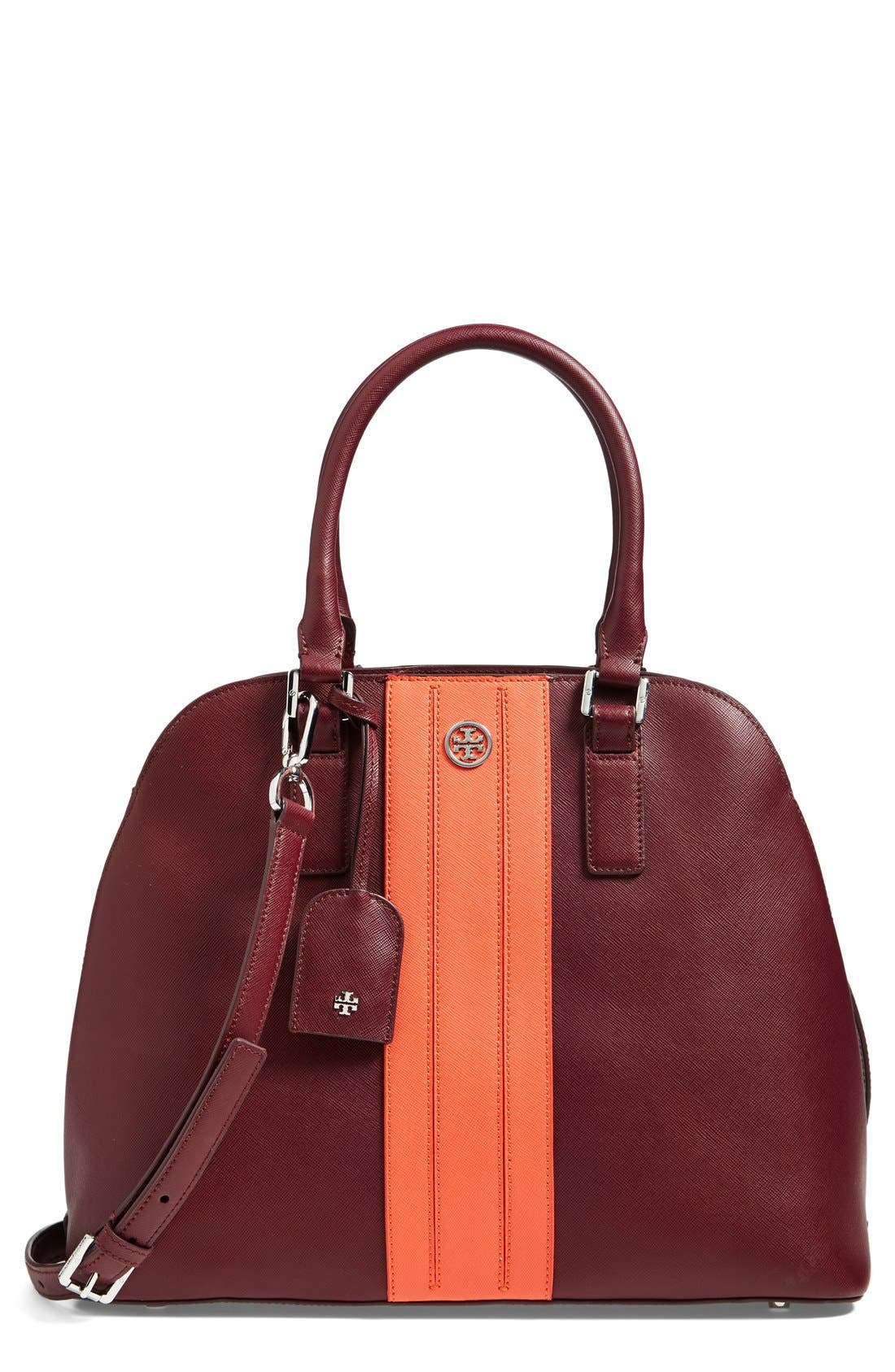 Alternate Image 1 Selected - Tory Burch Colorblock Leather Dome Satchel