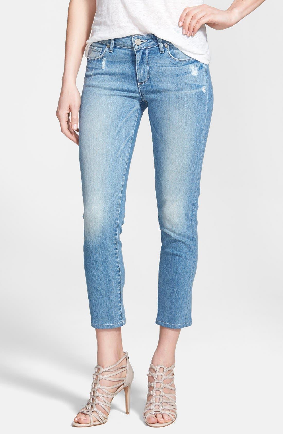 Alternate Image 1 Selected - Paige Denim 'Kylie' Crop Skinny Jeans (Whitley)
