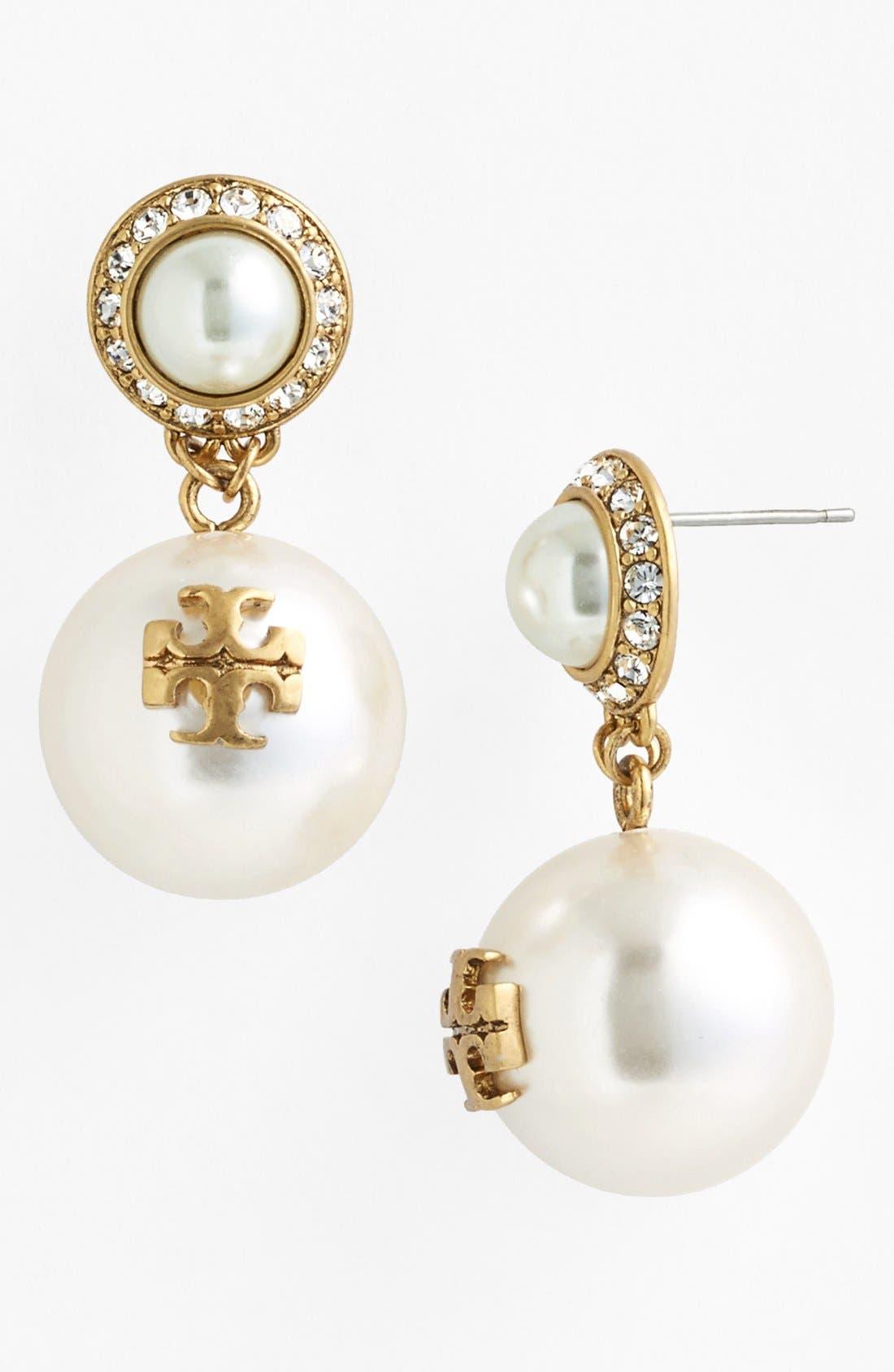 Main Image - Tory Burch 'Selma' Faux Pearl Drop Earrings