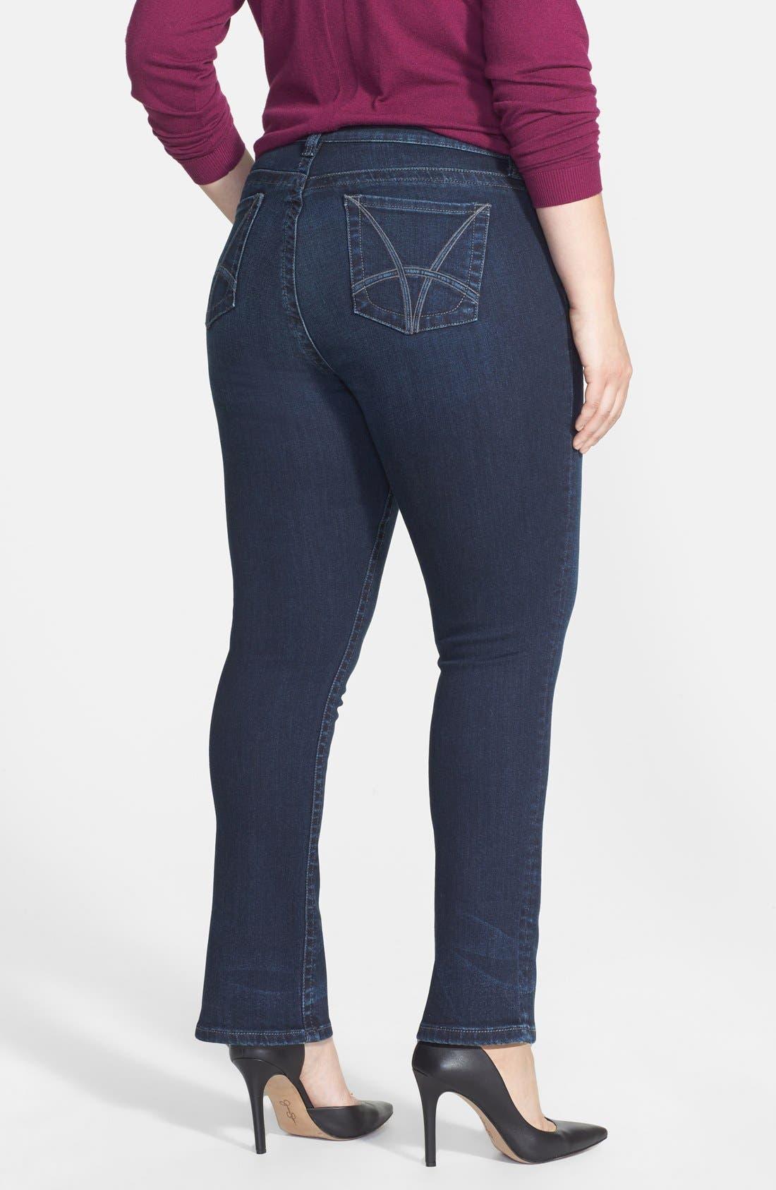 Alternate Image 2  - KUT from the Kloth 'Stevie' Straight Leg Jeans (Progressive) (Plus Size) (Online Only)