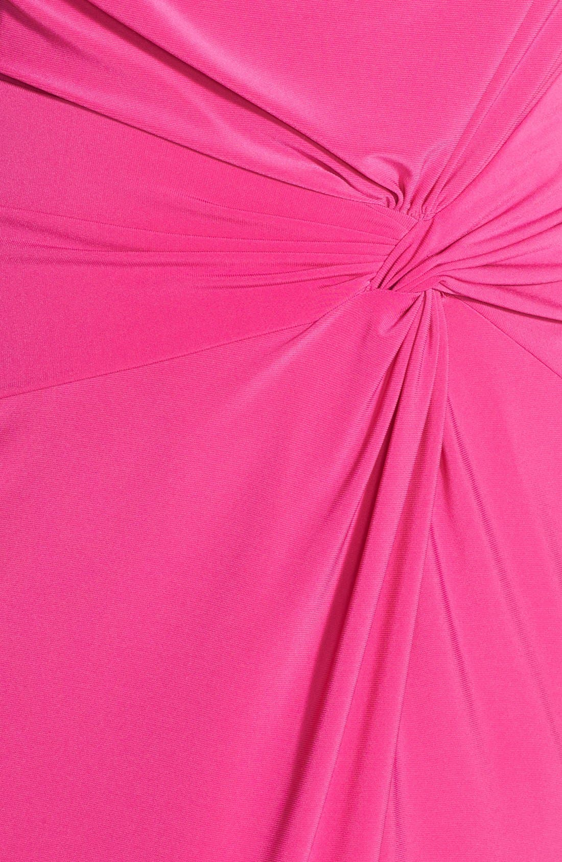 Alternate Image 3  - Adrianna Papell Asymmetric Drape Cowl Neck Jersey Sheath Dress (Plus Size)