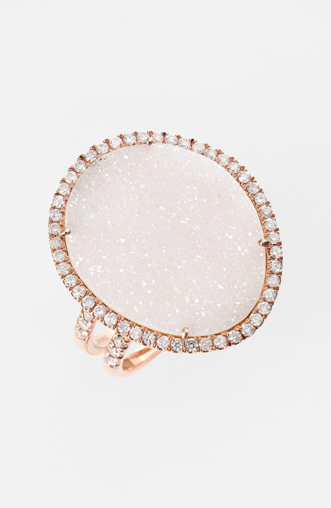Alternate Image 1 Selected - MeiraT Drusy & Diamond Ring