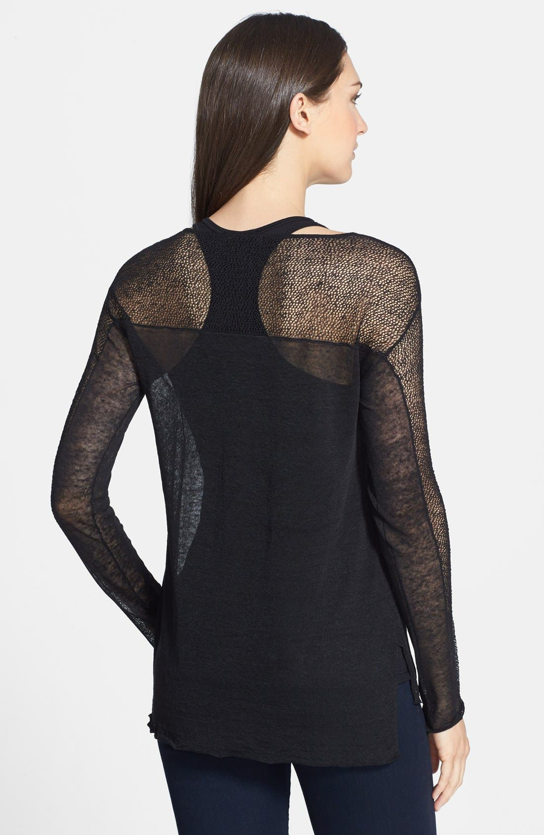 Alternate Image 2  - Eileen Fisher Sheer Bateau Neck Top