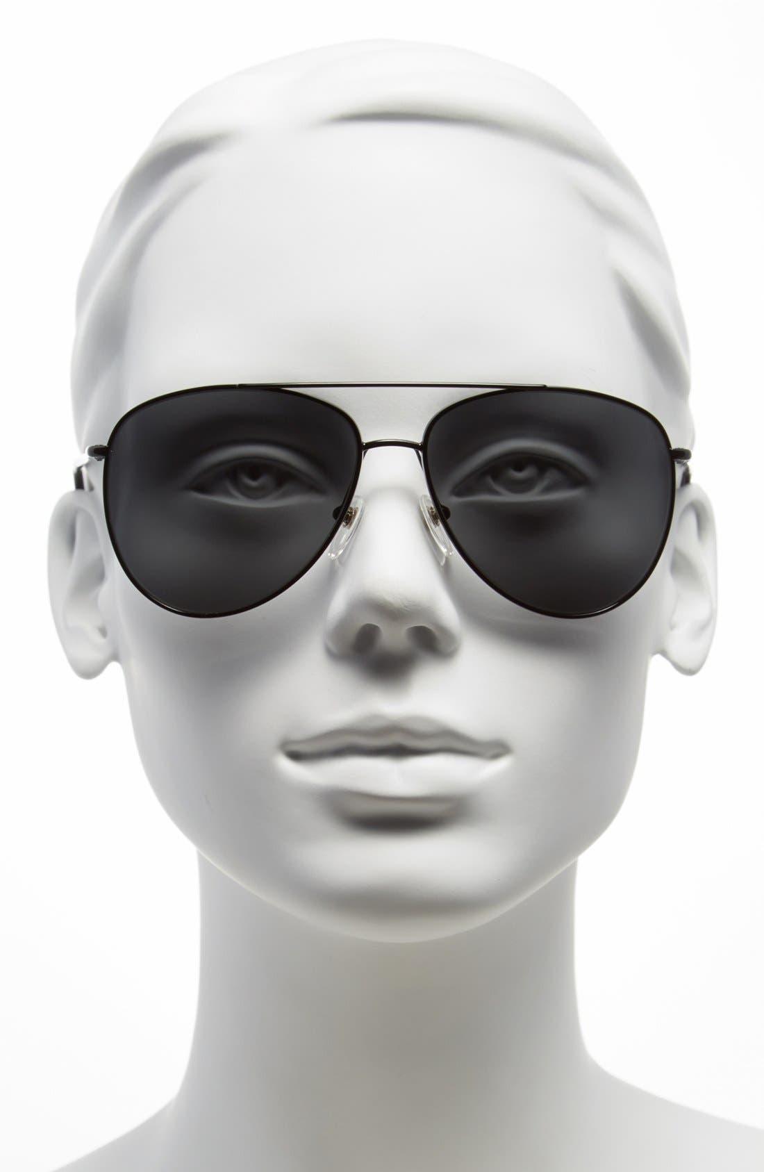 Alternate Image 2  - Burberry 'House Check Foil' 57mm Aviator Sunglasses