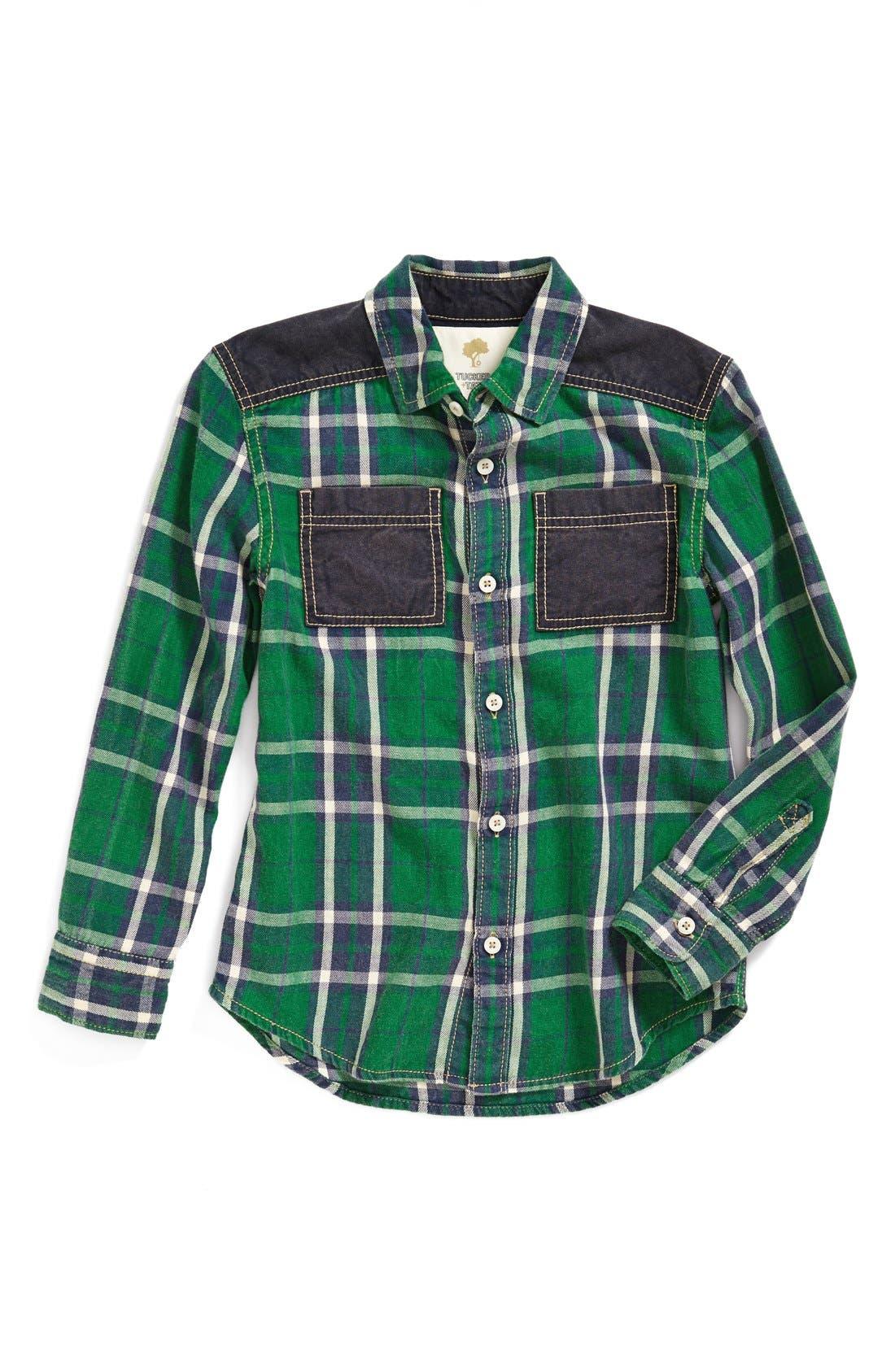Main Image - Tucker + Tate 'Lenny' Contrast Trim Long Sleeve Shirt (Toddler Boys & Little Boys)