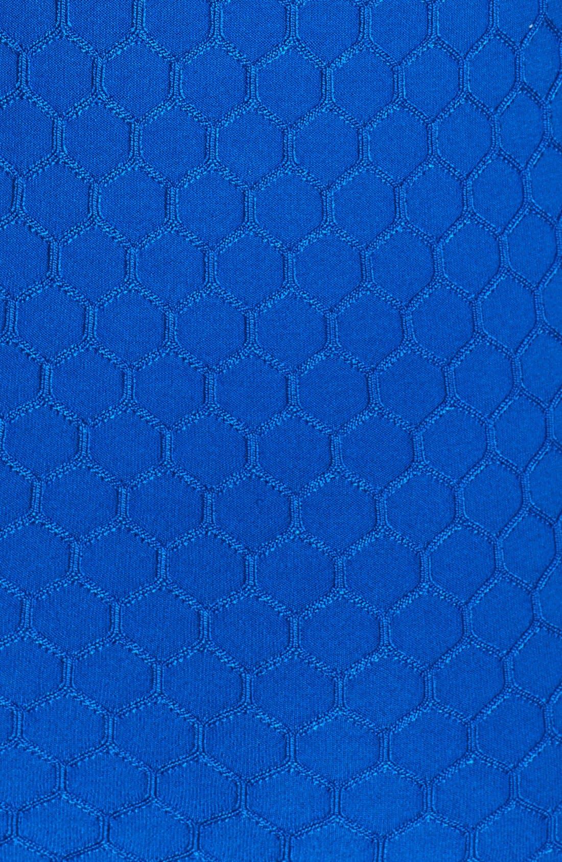 Alternate Image 3  - Pink Tartan Honeycomb Knit Dress