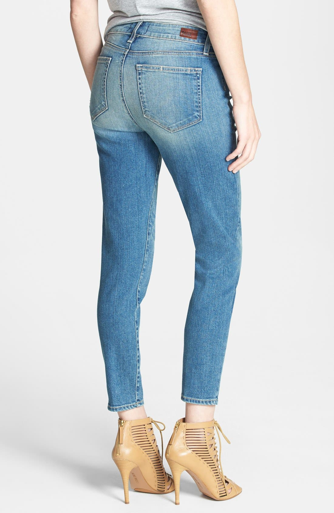 Alternate Image 2  - Paige Denim 'Hoxton' Distressed High Rise Crop Jeans