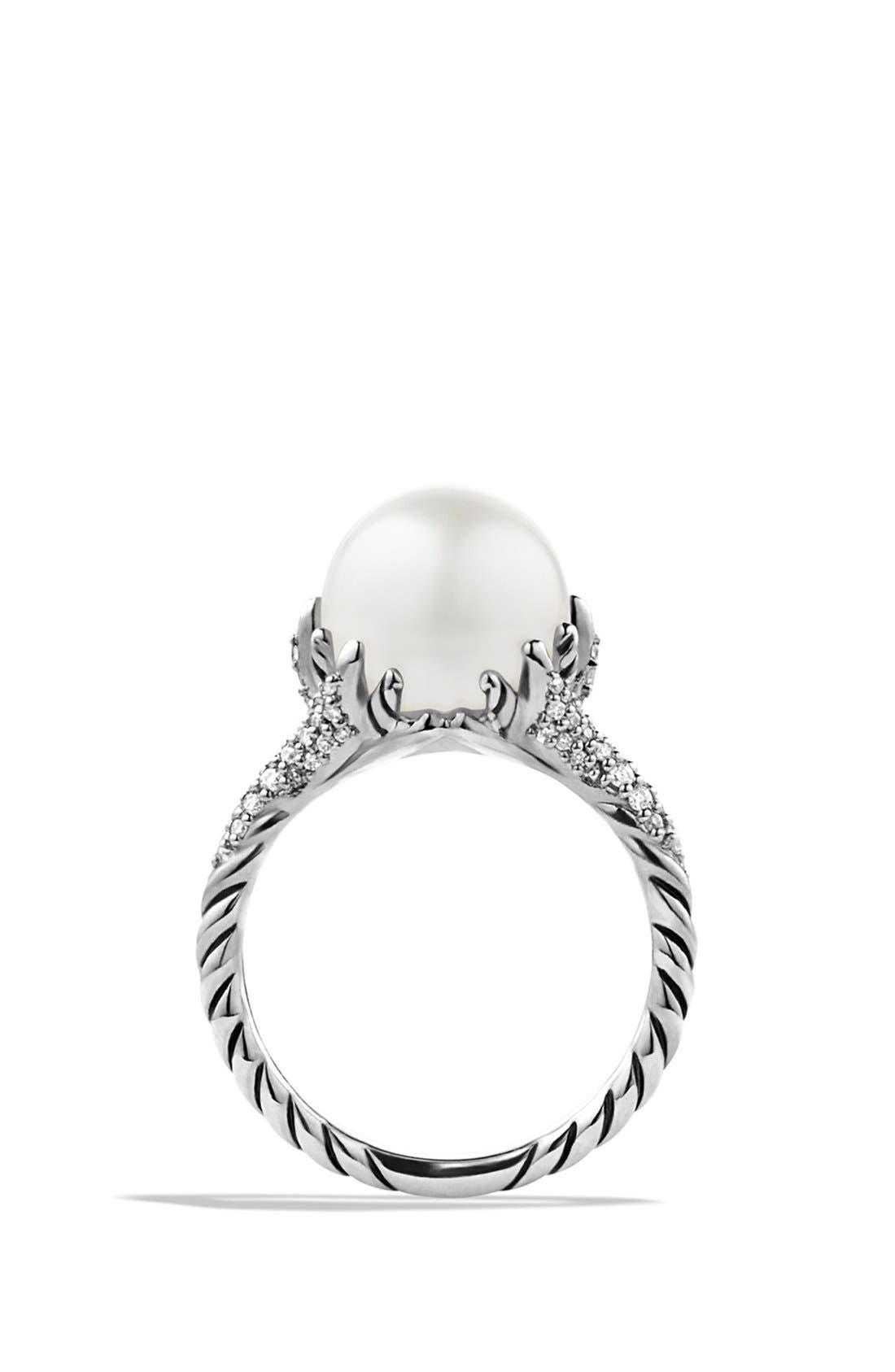 Alternate Image 2  - David Yurman 'Starburst' Pearl Ring with Diamonds