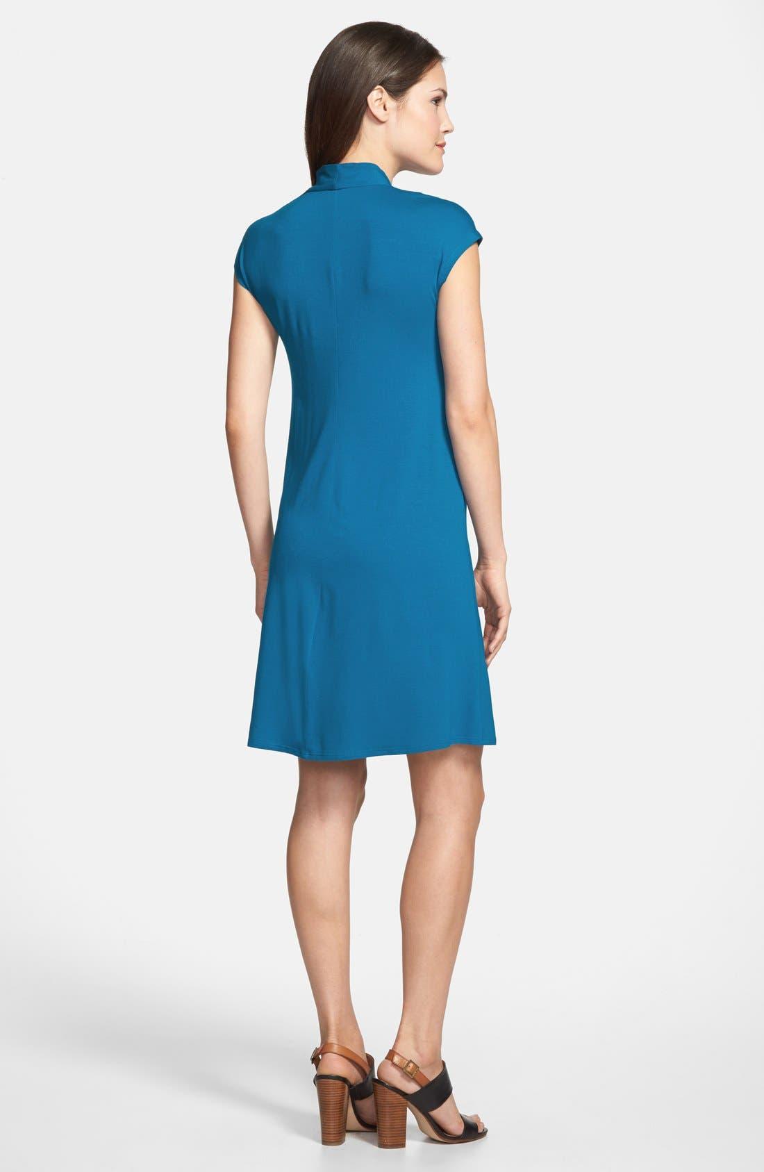 Alternate Image 2  - Eileen Fisher Drapey V-Neck Dress (Regular & Petite)